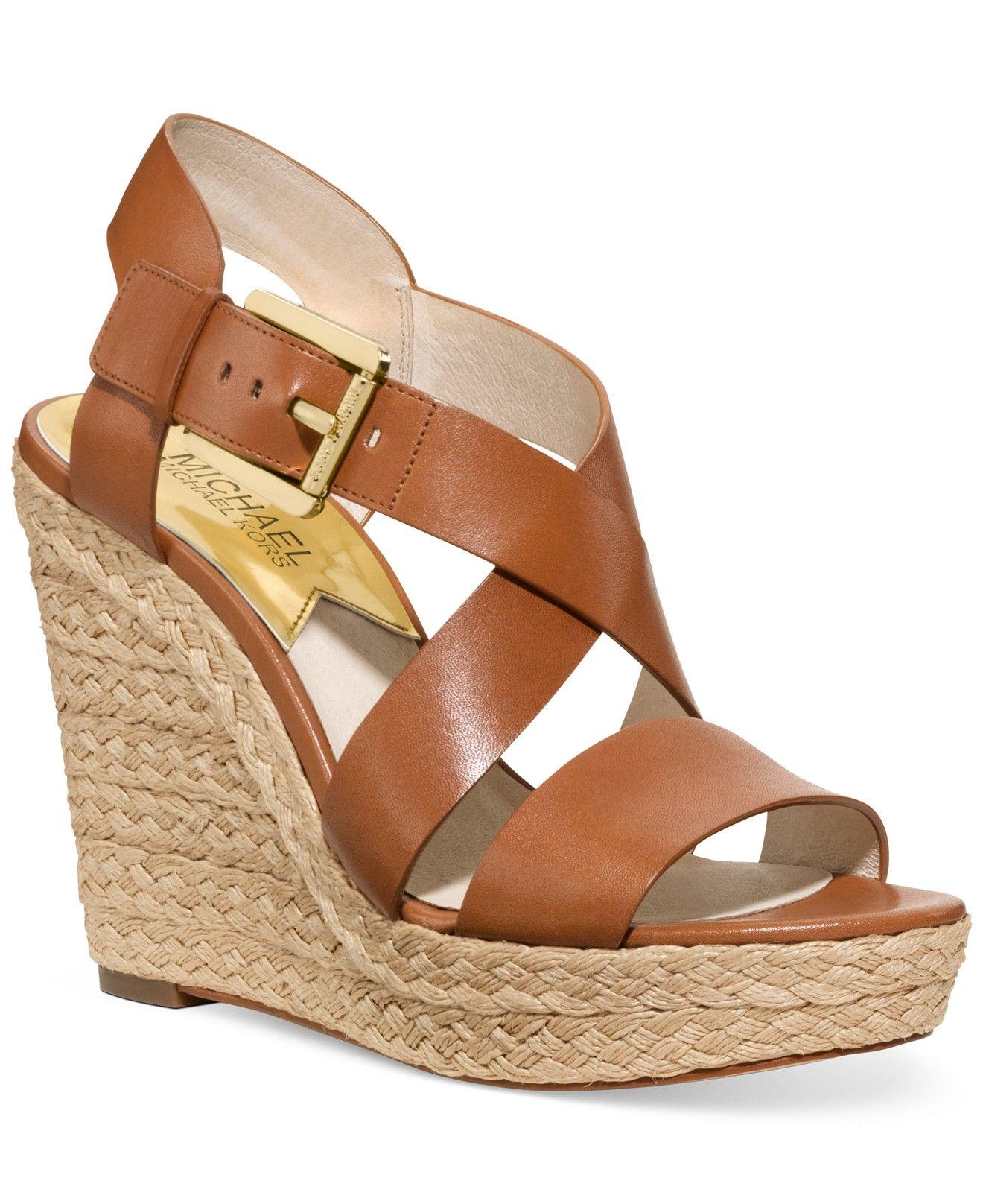 MICHAEL Michael Kors Giovanna Platform Wedge Sandals - All Women's Shoes -  Shoes - Macy's - MICHAEL Michael Kors Damita Wedges Wedges Pinterest Michael
