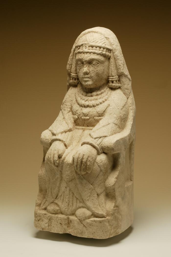 SPAIN / IBERIA (Pre-Roman Spain) -  Dama sedente. Santuario del Cerro de los Santos. Museo Arqueológico Nacional