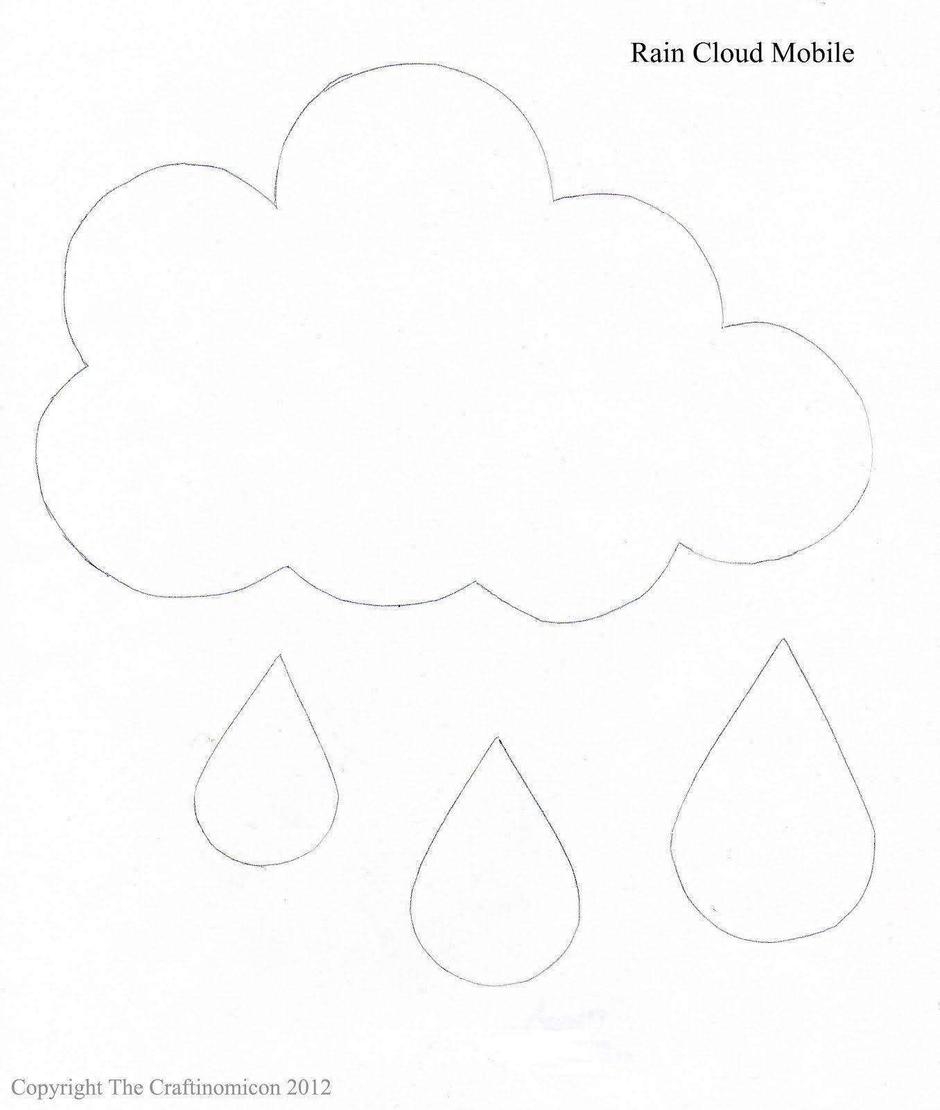 wolke mit regentropfen basteln n hen schablonen und vorlagen. Black Bedroom Furniture Sets. Home Design Ideas