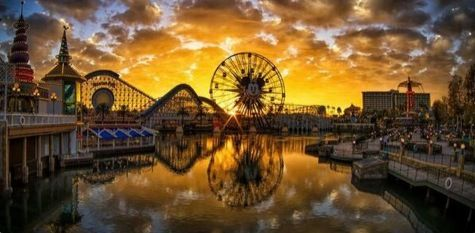 Sunset at Paradise Pier, California