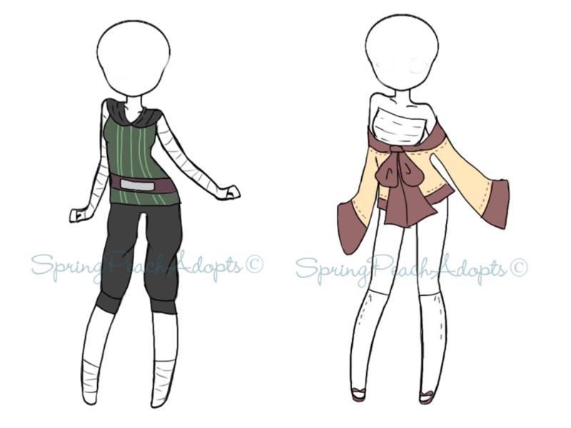 Naruto Outfit Adopts 5 [close] by SpringPeachAdopts.deviantart.com on @DeviantArt