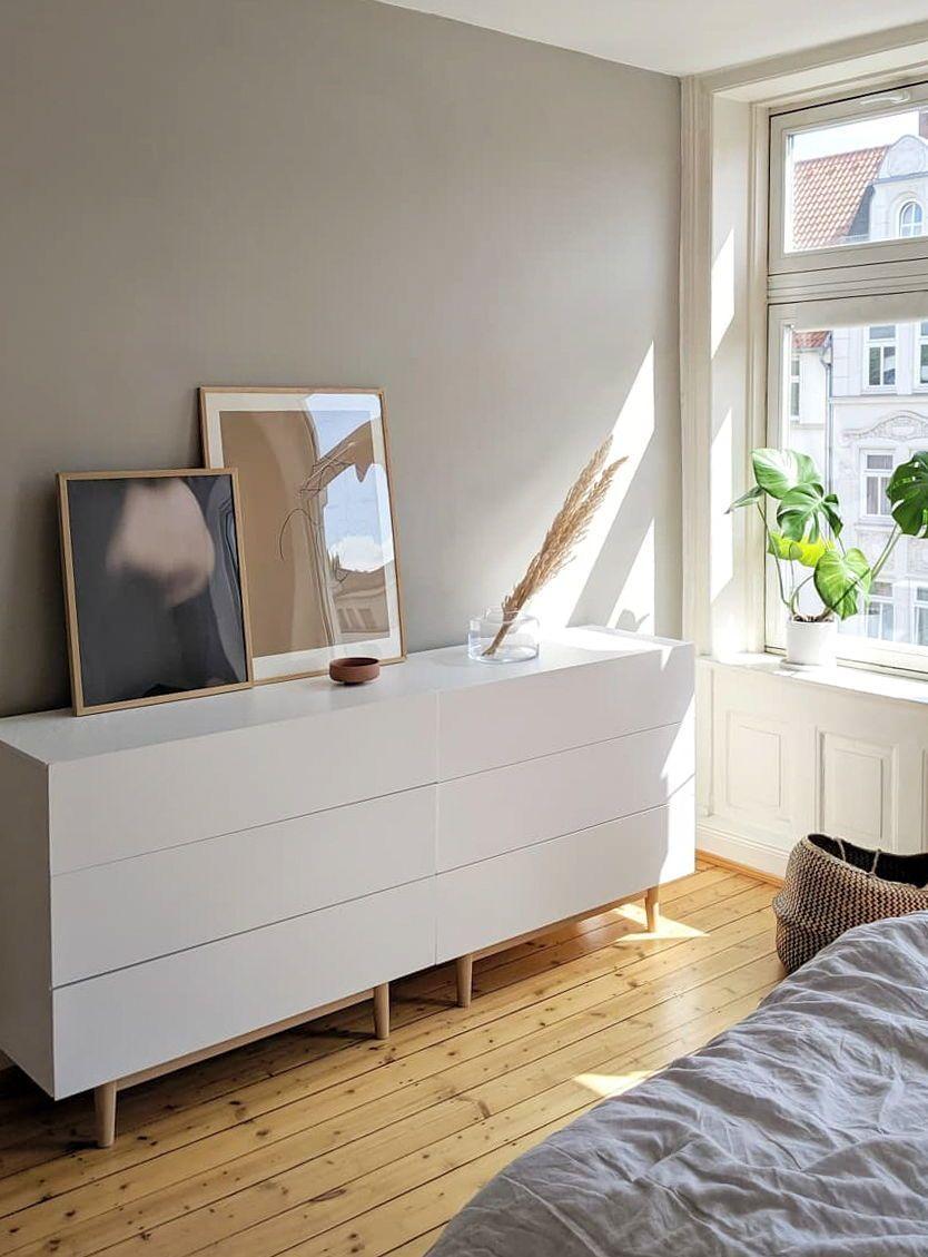 Farbfreude Graue Wand Schlafzimmer Beige Schlafzimmer Haus Deko