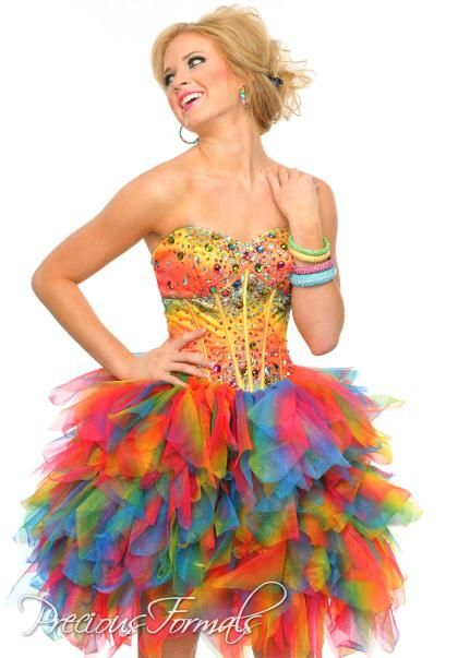 Prom Dresses by Designer at | Short prom dresses, Rainbow dresses ...