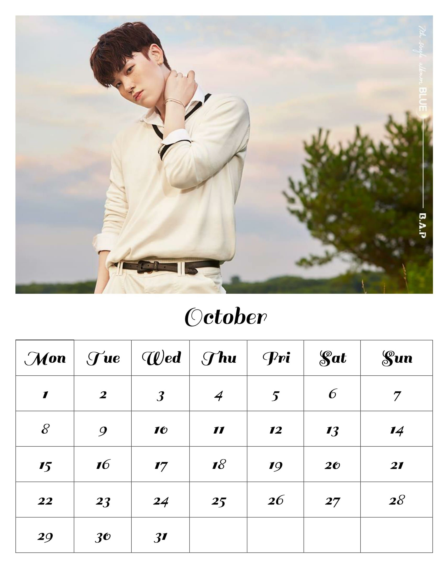 Free download bap monthly calendar october 2018 zelo free free download bap monthly calendar october 2018 zelo malvernweather Choice Image