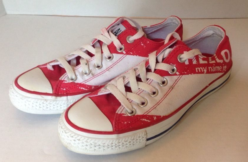 73450aa40f8 Converse Chuck Taylor All Star Hello My Name Is Shoes Size 5 (women s Size 7 )