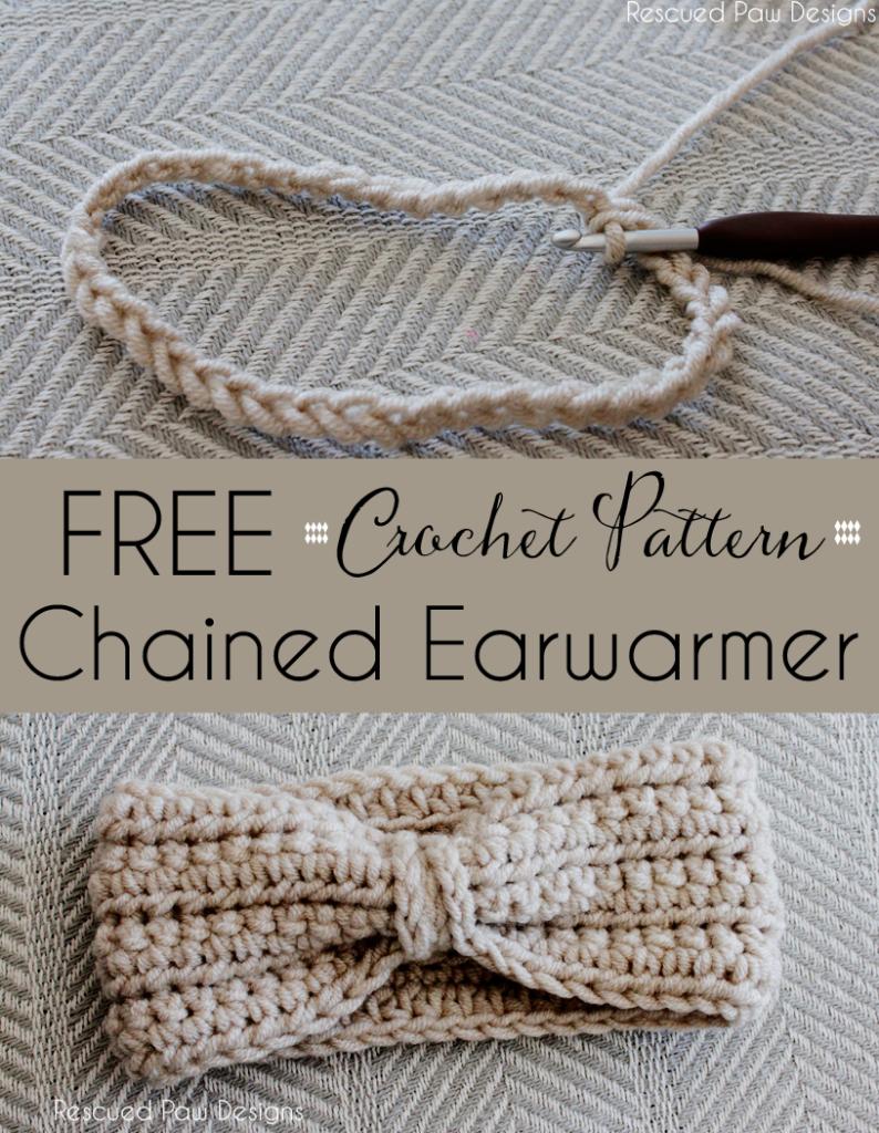Crochet Chained Ear Warmer Pattern by Rescued Paw Designs ...