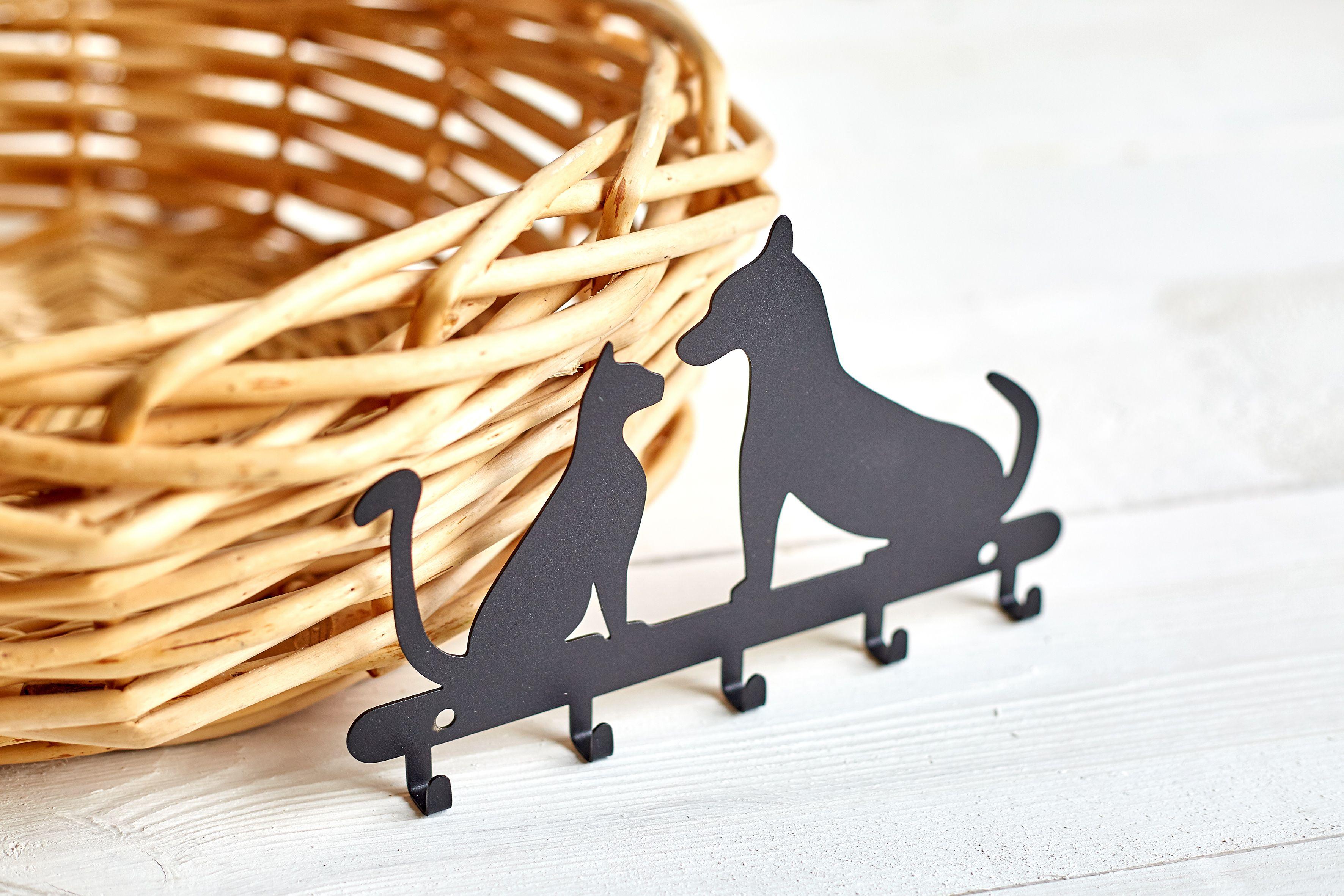 Wieszak Na Smycz I Klucze Pies I Kot Czarny Wieszak Smycz Kot