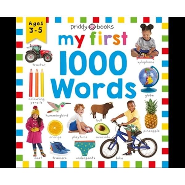 My First 1000 Words ISBN: 9781783419951 PUBLICATION DATE: 25 August 2020  My First 1000 Words is a photographic book with bright, colourful images and a wide range of themes that children will easily recognise. Combining visually stimulating images and large, simple first words, this engrossing title has everything you need to introduce children to new concepts. With themes like Food, Animals, Home, School, Family, Jobs and Around the World _My First 1000 Words_ is packed with words to develop a