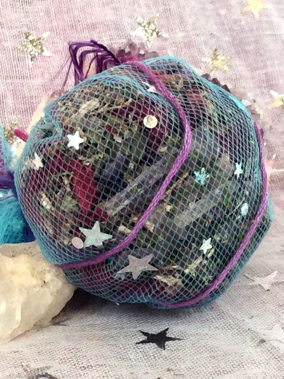 Astral Lucid Dreams Hanging Dream Sachet, Dreaming Sleep Herbs, Boho