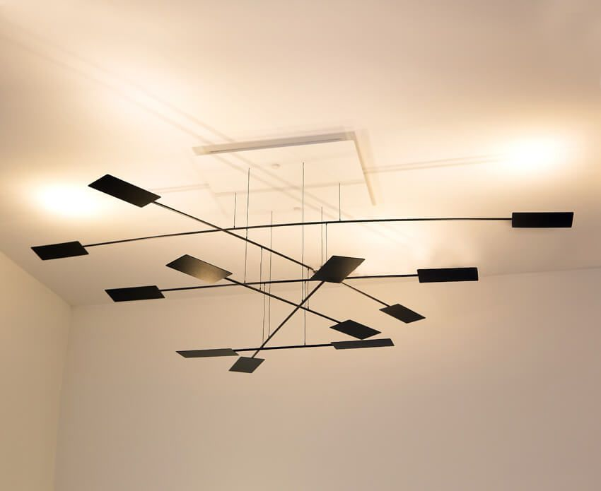 Black Oars - This ceiling lamp mobile art piece features ...