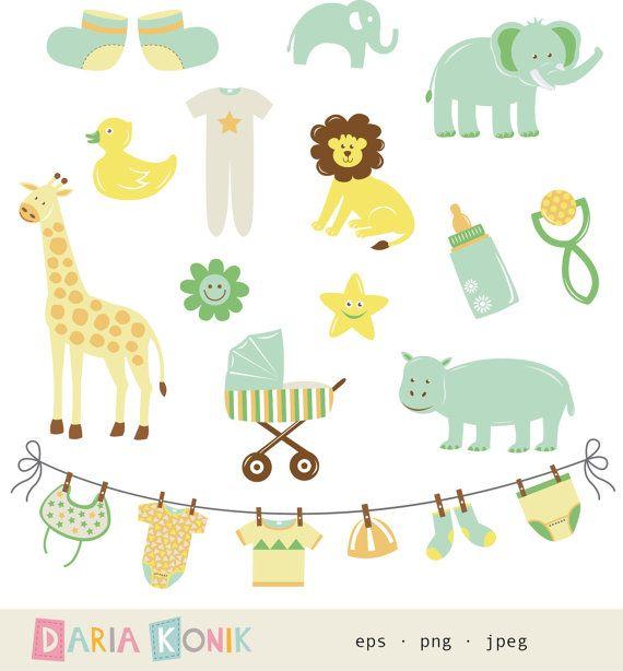 Gender Neutral New Baby Clip Art Setnew Baby Cute By Dariakonik