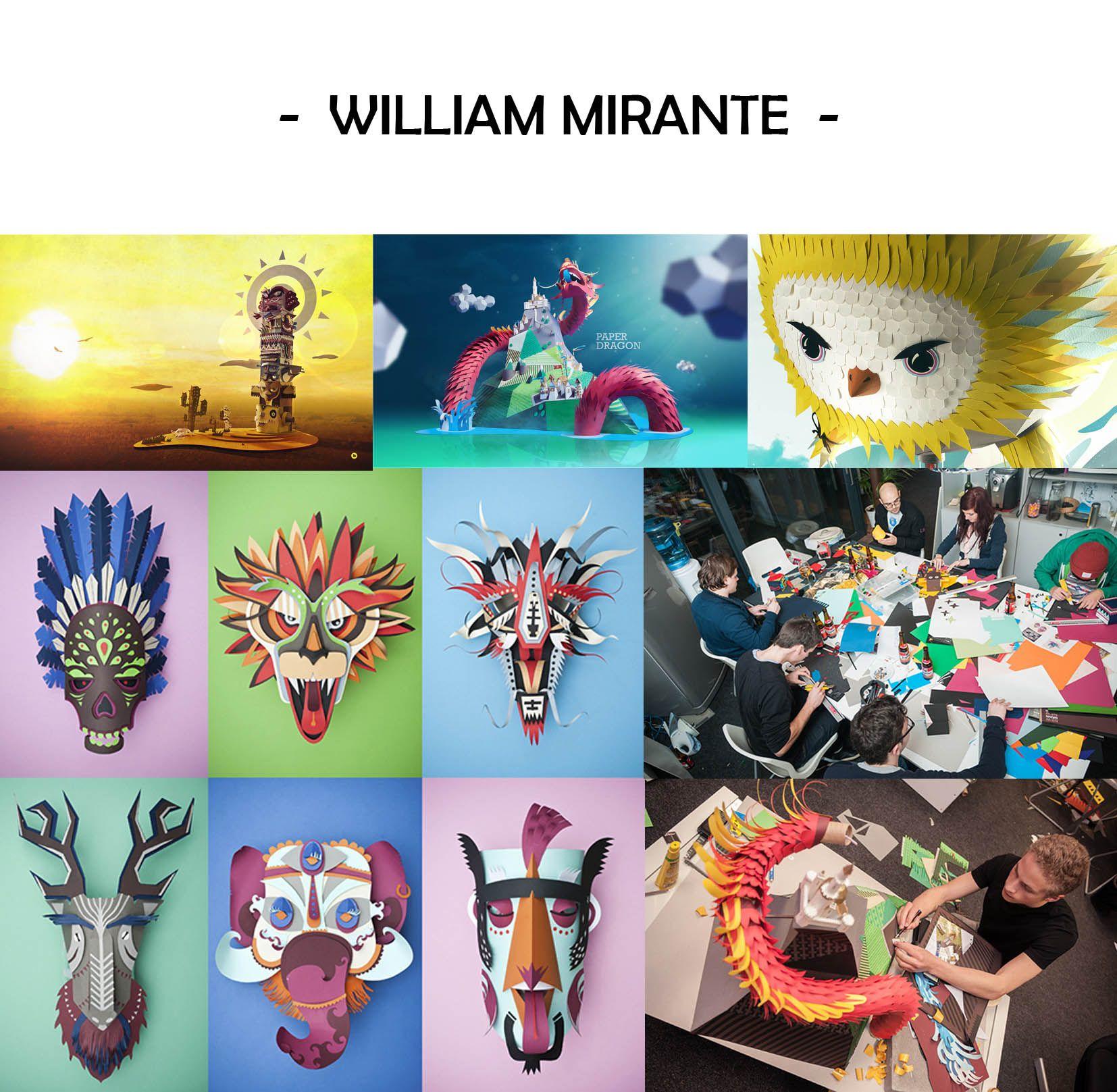ARTE Y DISEÑO + PAPEL - William Mirante - en The Creative Jungle
