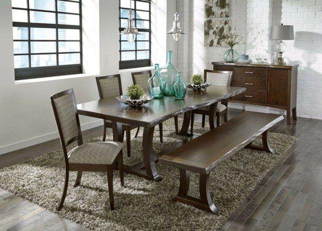 en bois massif brut- 28 tables à manger rustiques