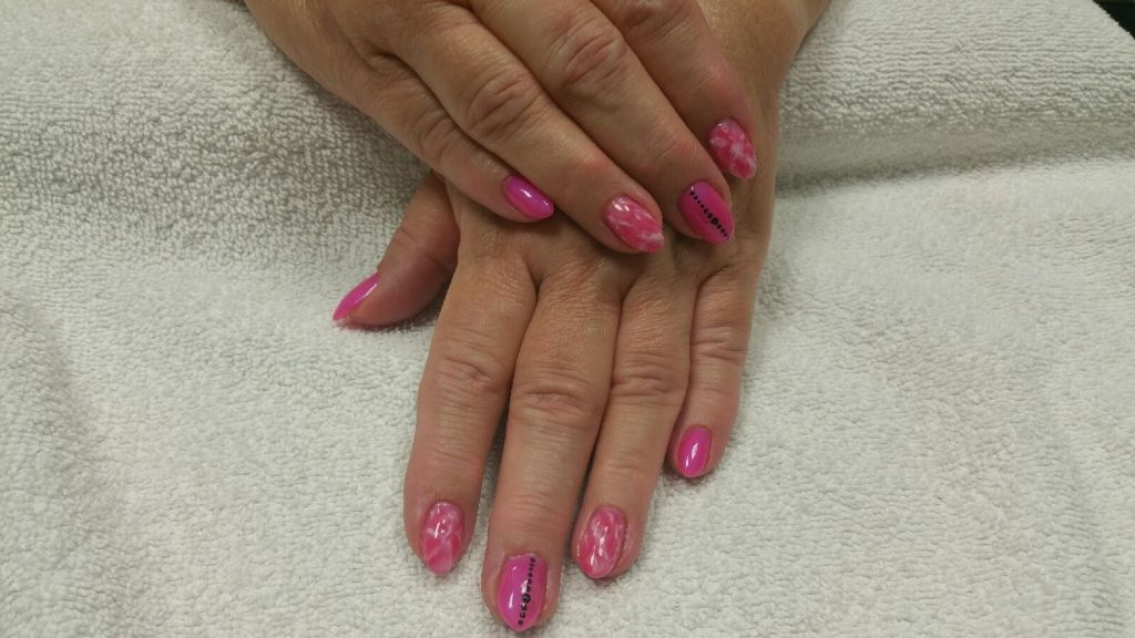 Marble Nail Design Done By Heiky Yeg Labeautesalonspa Nail