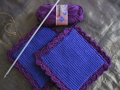 Tunisian crochet potholder by Celies - free Ravelry download ...