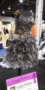 My friend, Candice, made this dress out of plastic bags. If I didn't think I'd sweat to death, I'd wear it.