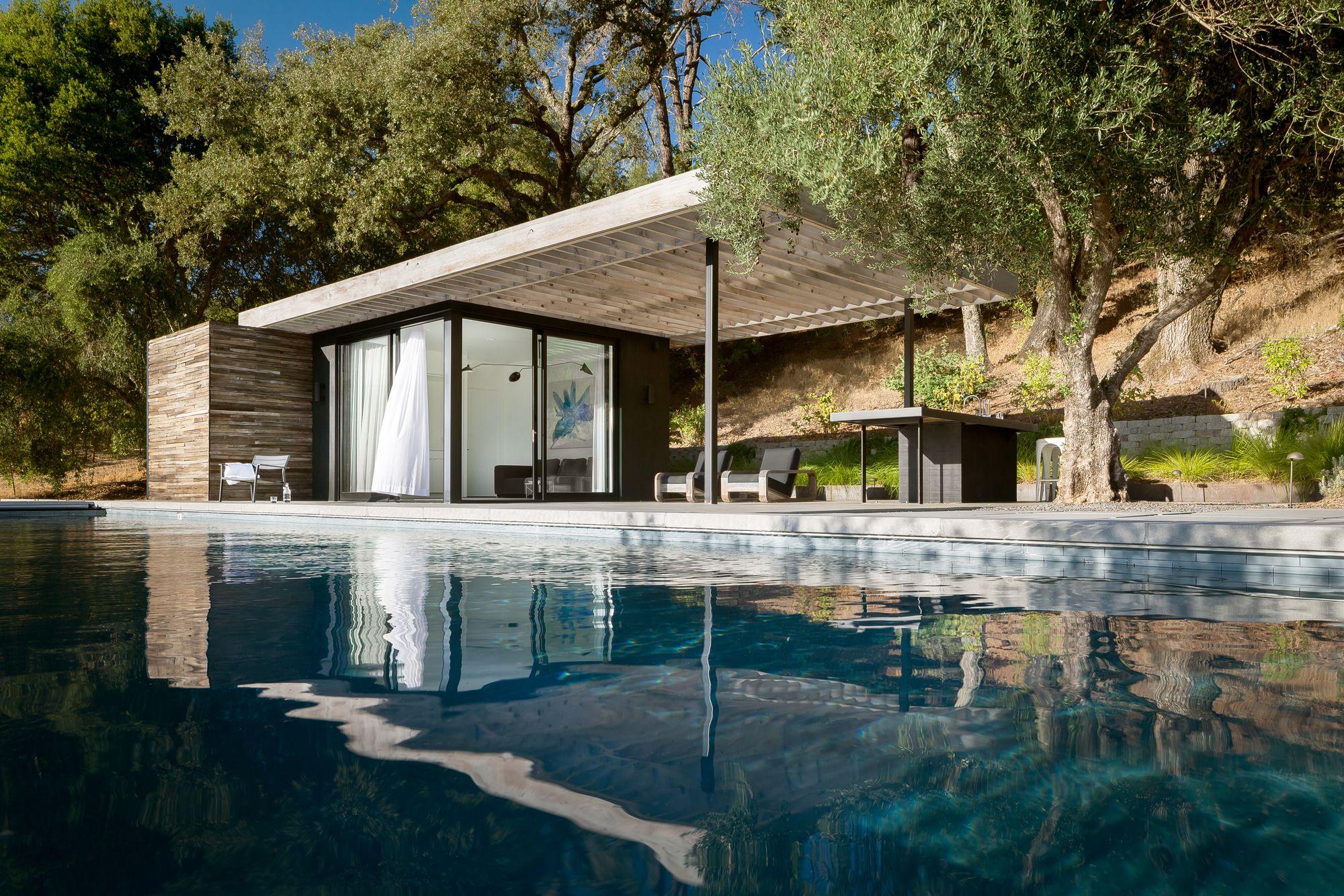 Dry Creek Poolhouse Ro I Rockett Design Modern Pool House Pool House Designs Pool Houses