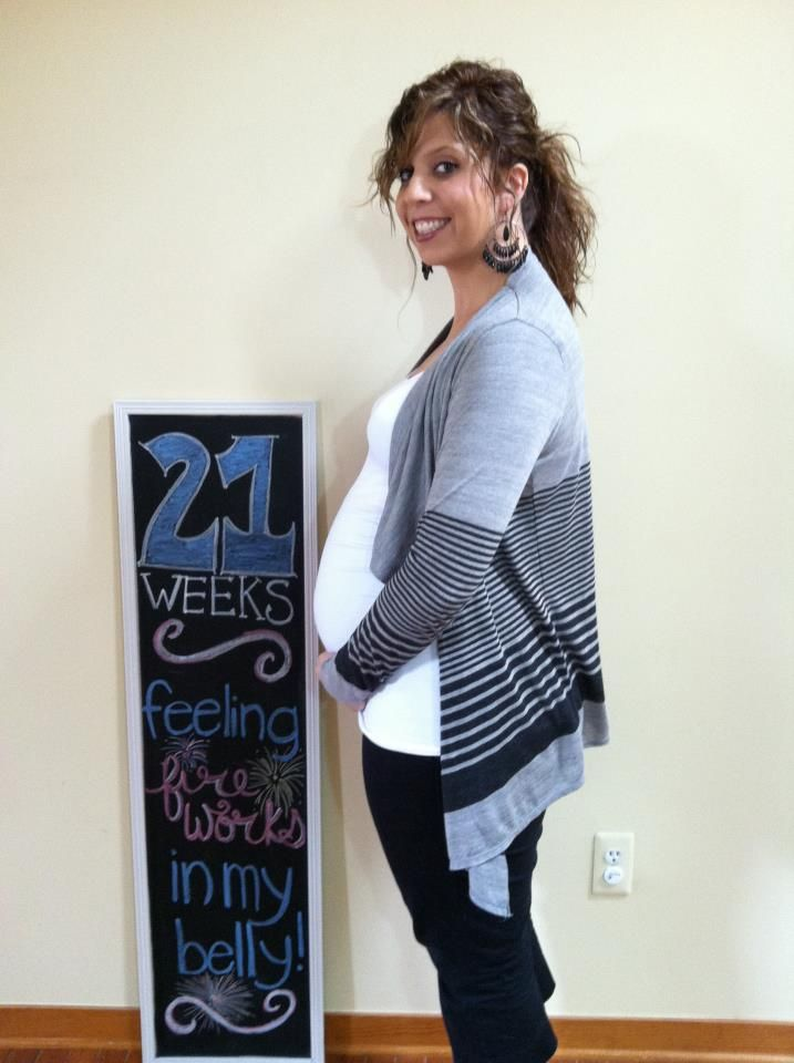 21 weeks on 7-18-12, and feeling her move a ton!!