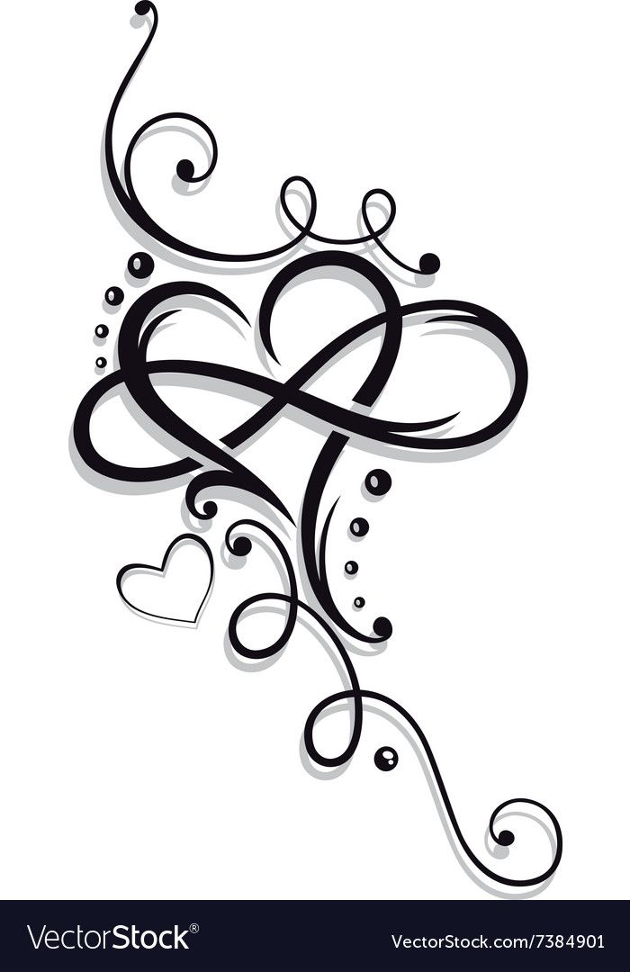 Photo of Heart and infinity, Tattoo for Valentines Day. Download a Free Preview or High Q…