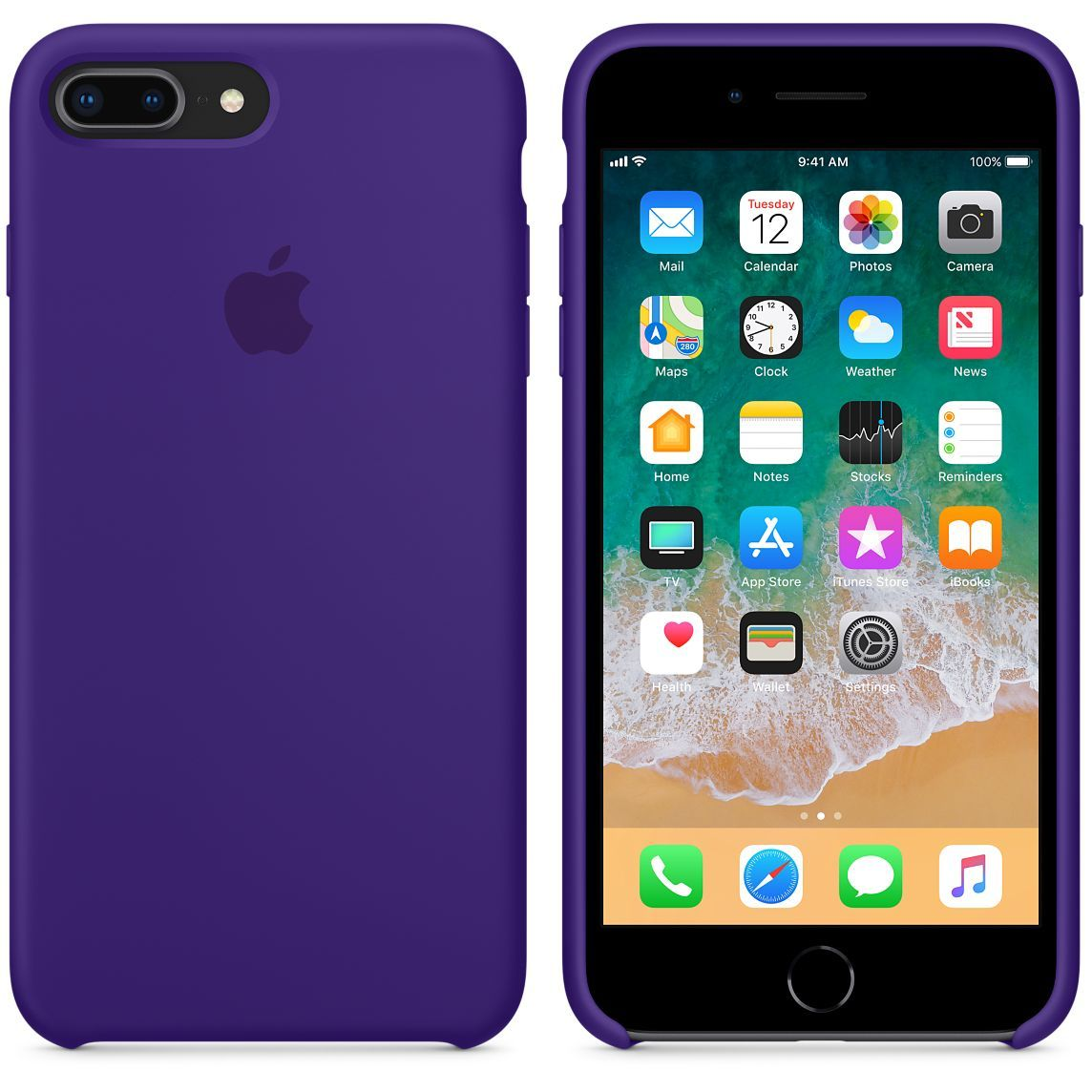 Apple Silicone Violet Case IPhone 7+  8a14d73a3d8ee
