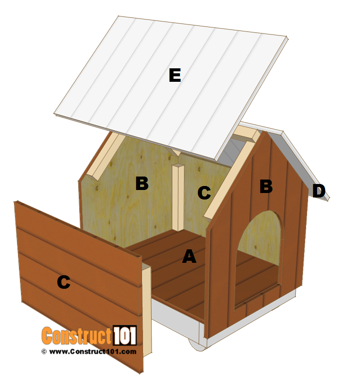 Small Dog House Plans Step By Step Free Download Construct101 In 2020 Small Dog House Dog House Plans Cat House Plans