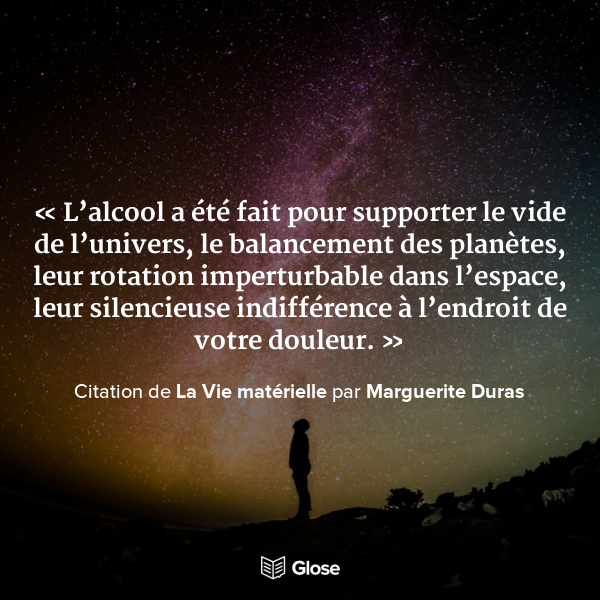 Quoted From La Vie Materielle By Marguerite Duras Marguerite Duras Citation De Vie Citation