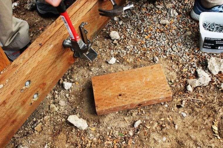 Faire une terrasse en bois - tuto détaillé pour fabriquer l\u0027ossature - Comment Monter Une Terrasse En Bois