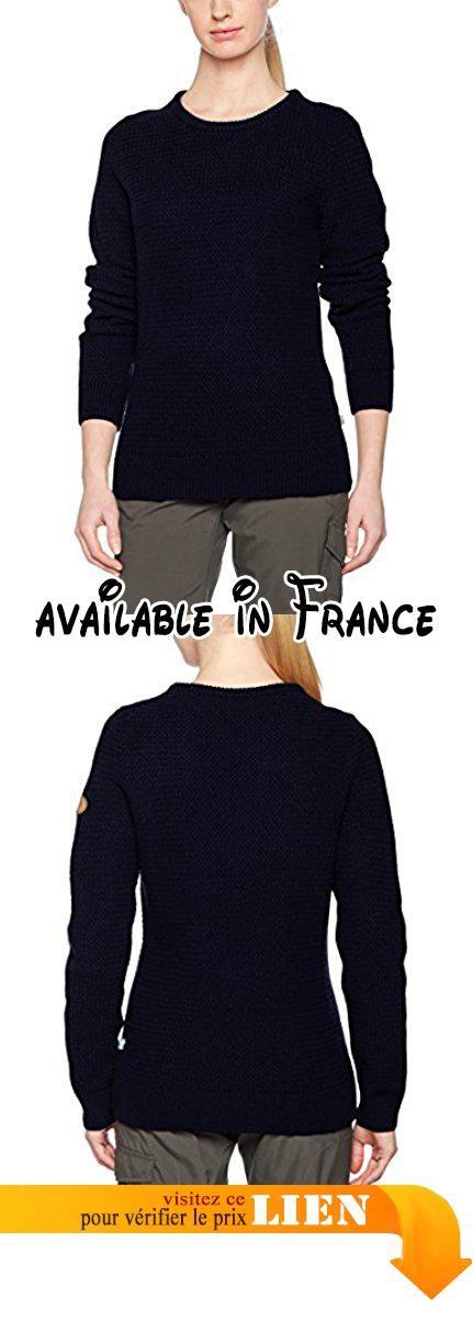 FjallRaven Sweater Ovik Structure Sweater W Dark Navy Medium. Confortable  pull en tricot avec excellent ajustement 8e294dd5d0c