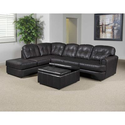 Inexpensive bonded-leather sectional for basement  sc 1 st  Pinterest : simmons brooklyn sectional - Sectionals, Sofas & Couches