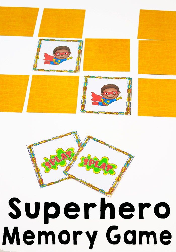 Superhero Memory Game Printable Pack #superherocrafts