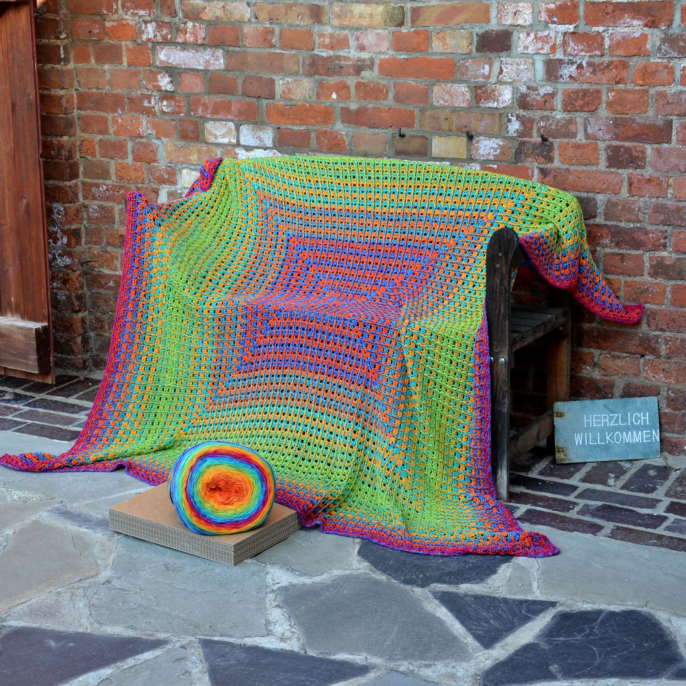Häkelset Lola 4fach Riesen Decke Kunterbunt Häkelsets Pinterest