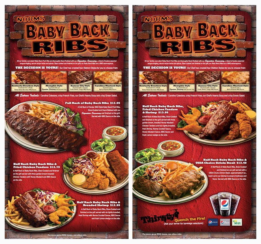 Black Lab Productions Norms Restaurants Marketing Advertising Menu Insert Restaurant Advertising Restaurant Marketing Burger Menu