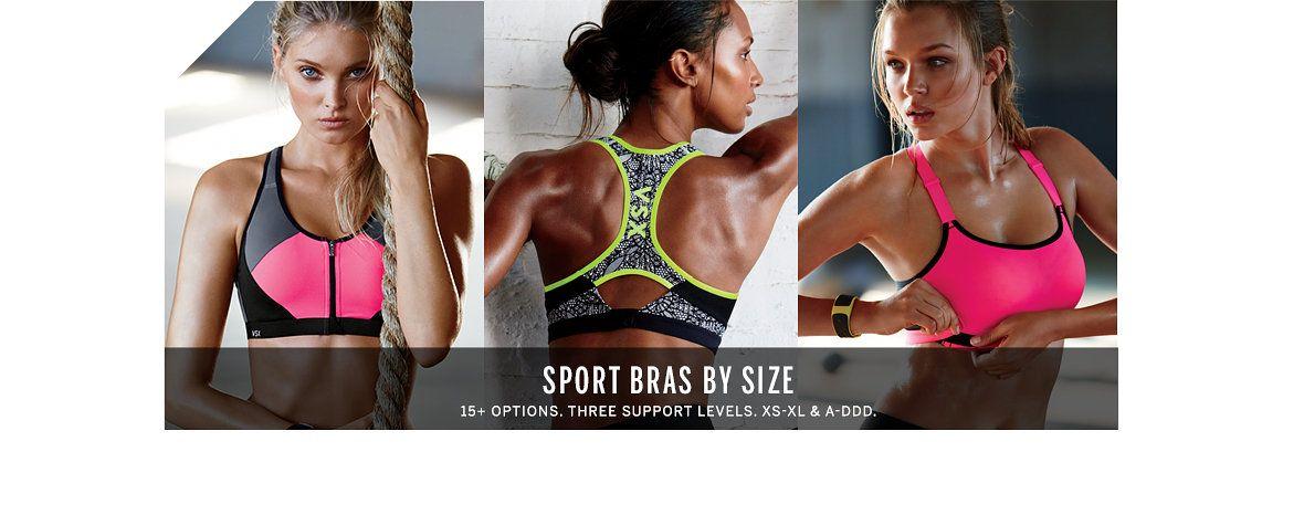 Sport Bras by Size