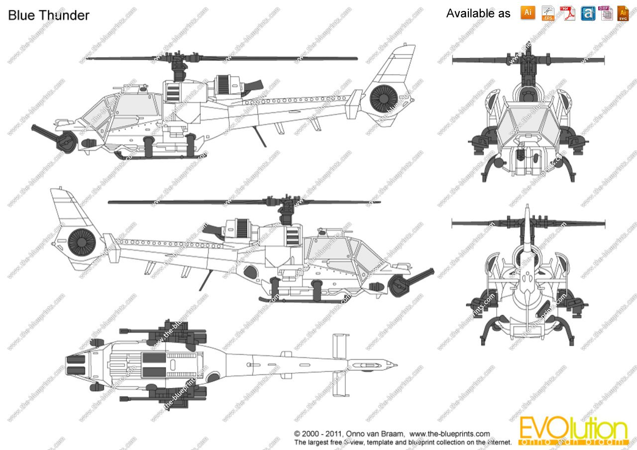 Blue thunder helicopter blueprints google search helicopters blue thunder helicopter blueprints google search malvernweather Image collections