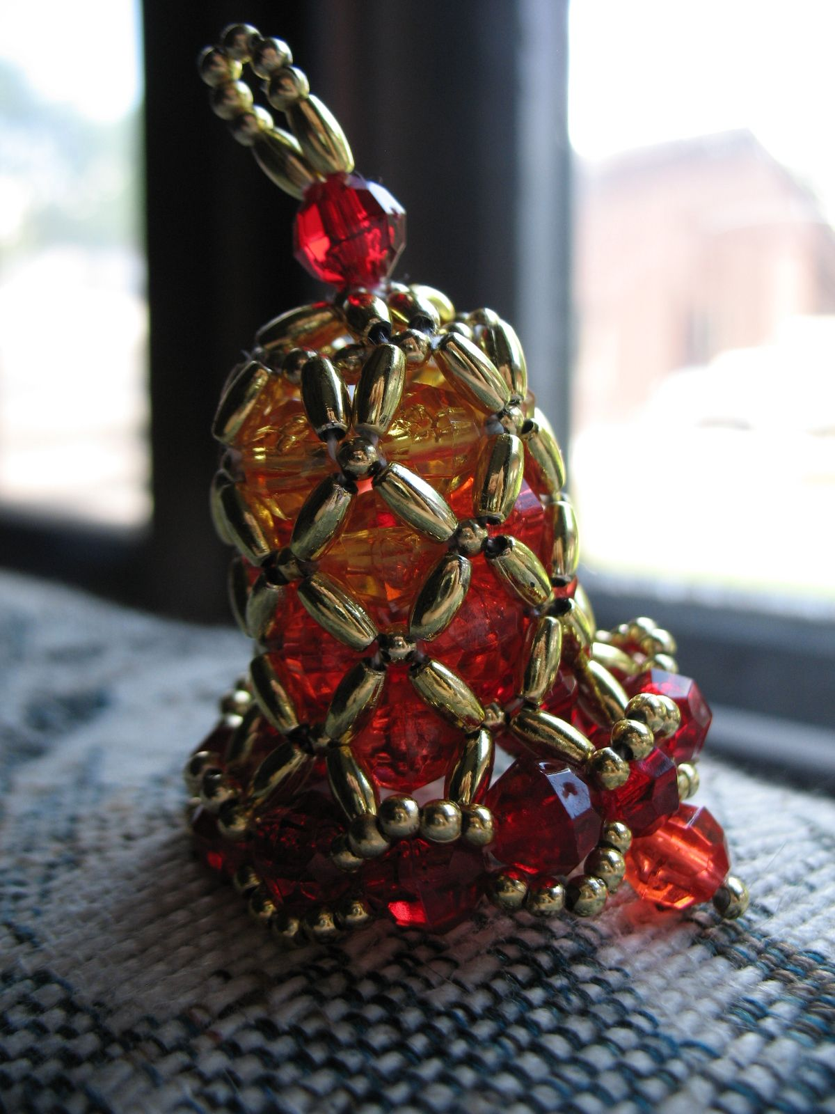 Bead Beaded Bell Ornaments For Christmas