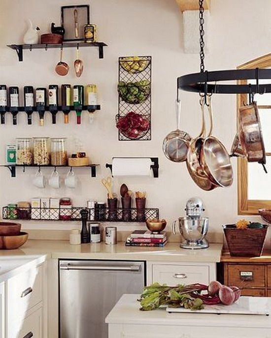 Modern Small Kitchen With Lots Of Stuff Tips To Emphasize Space In Small  Kitchen Design