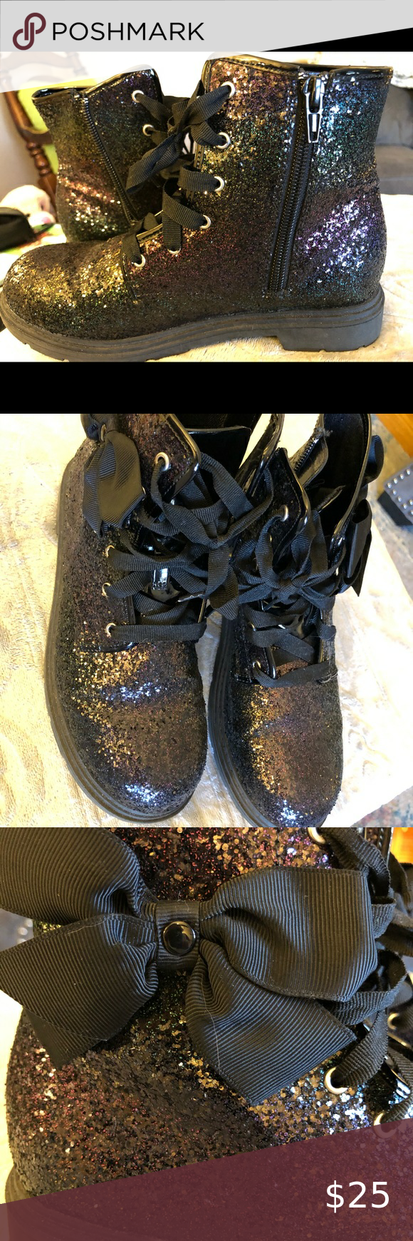 JoJo Siwa Zippered Glitter Boots in