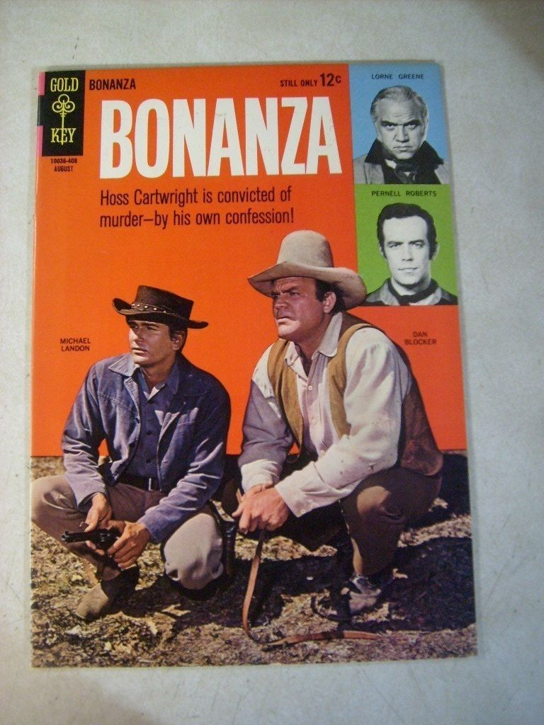 BONANZA #9 GOLD KEY, TV WESTERN COMIC, MICHAEL LANDON, LORNE GREENE, 1964, HOSS | eBay