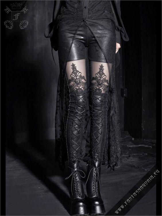 Macbeth leggings. Gothic leggings by Punkrave k-144  683c8aa7e3