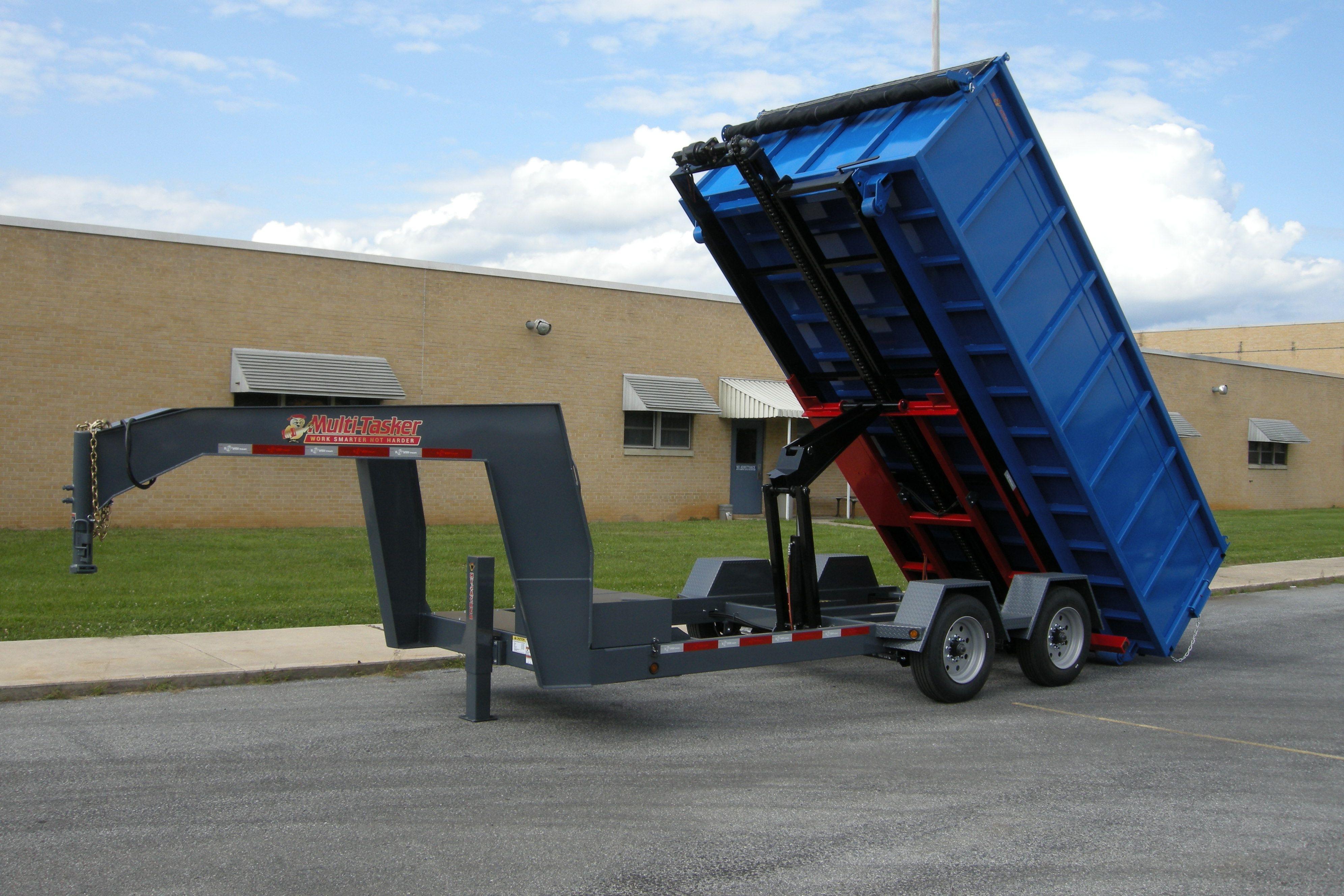 Bwise Multi Tasker W Dumpster Tarp Custom Trailers Work Truck Trailer Hitch