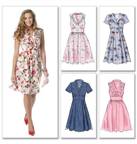 McCalls 6503: 1950s style dress | Kleider rock, Schnittmuster und ...