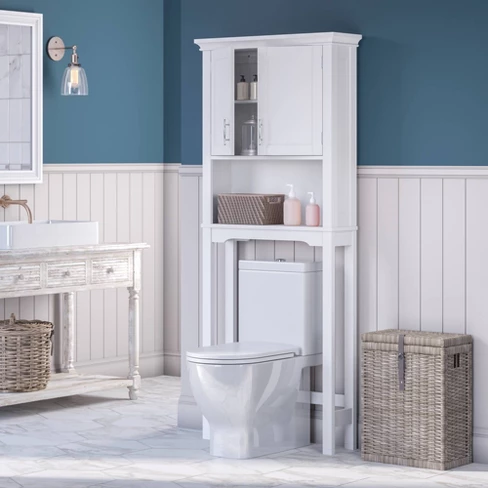 Over Toilet Cabinet With Open Shelf Over Toilet Storage Cabinet Bathroom Furniture Storage Open Shelving