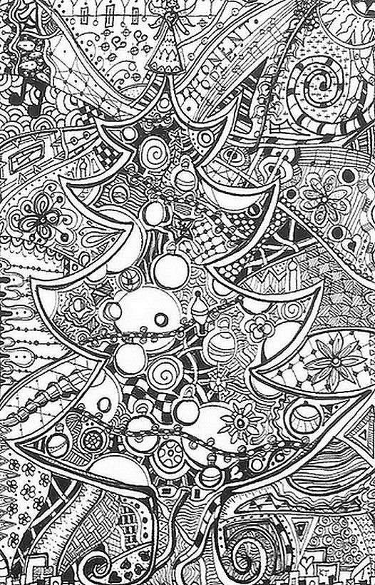 Coloring Pages Of Le Trees : Christmas coloring pages for adults google search rajz