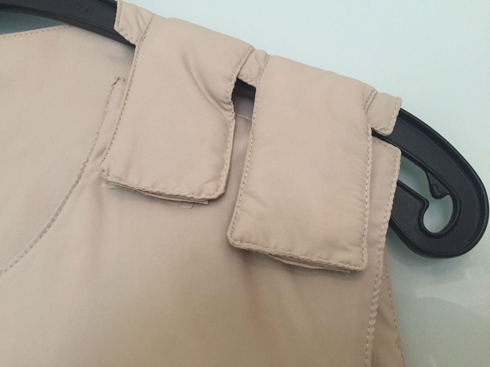 Vintage HELMUT LANG bulletproof down vest Weste Sz.M Original! Beige Sand Tan   eBay