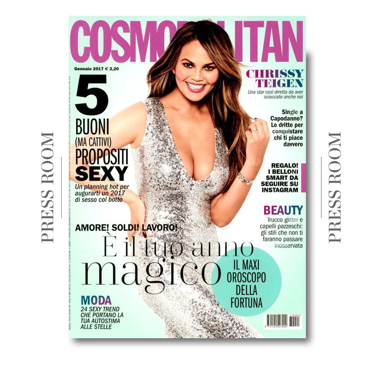 Cosmopolitan Italia January 2017 issue featuring Le Silla pumps on the inside! #lesilla #inthepress