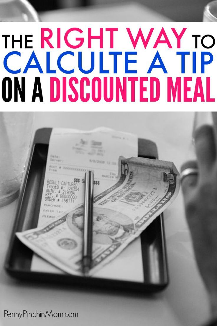 How to figure your tip when dining out on a discount