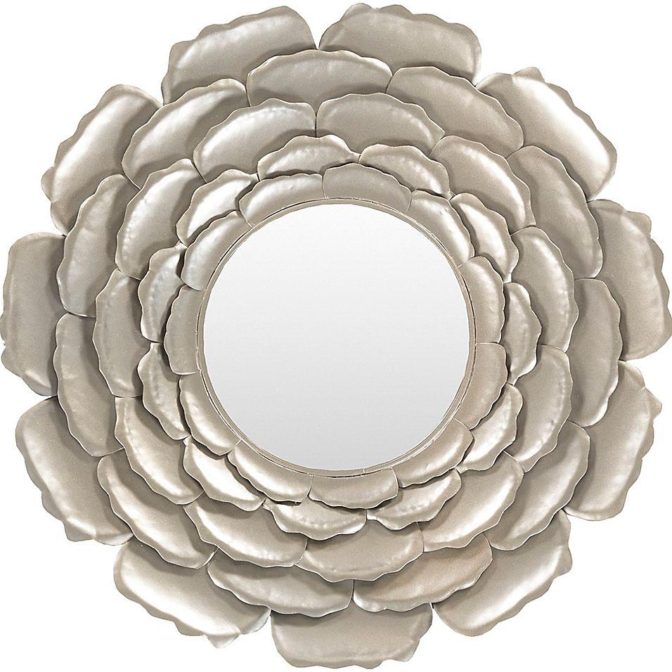 Surya Luisa 32 Inch Round Wall Mirror In Champagne Bed Bath Beyond Round Mirror Decor Mirror Decor Mirror Wall