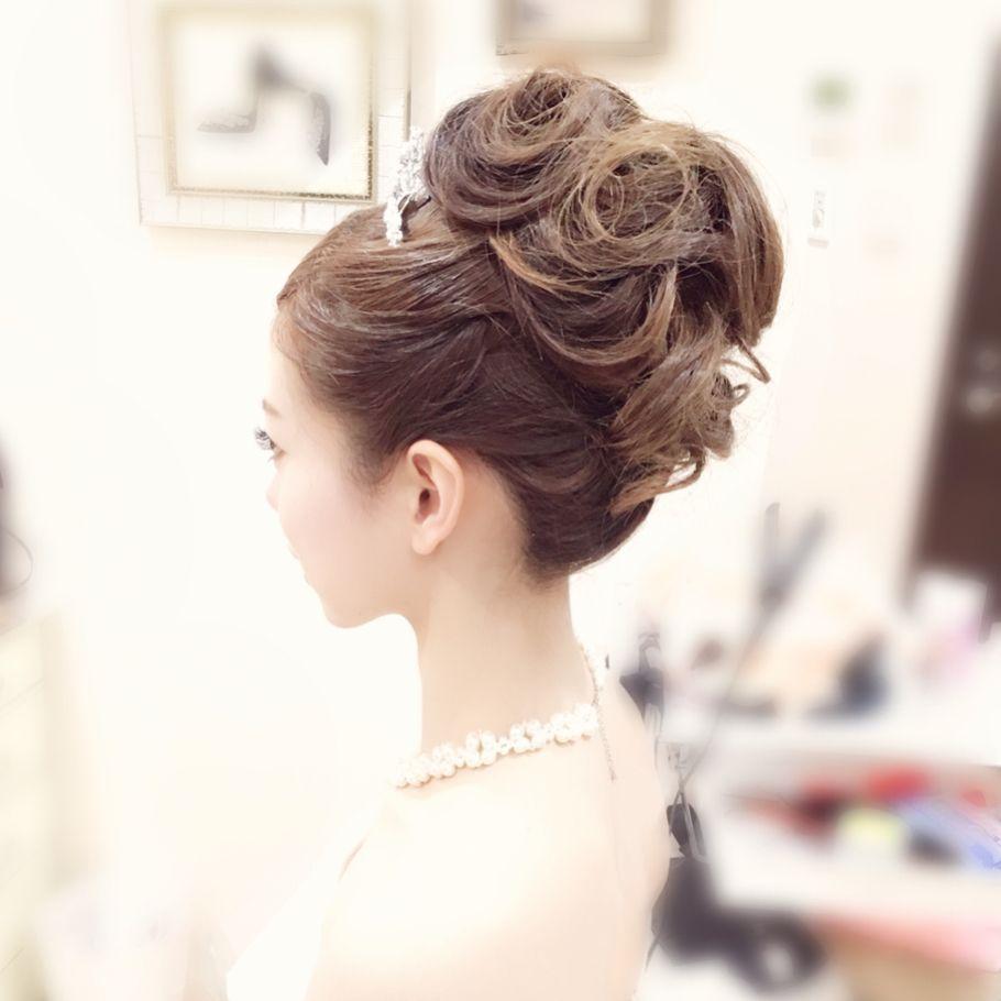 Weddinghair ウェディングヘアアレンジ 王道のアップヘア