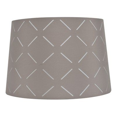 Shop allen roth x gray fabric drum lamp shade at lowes canada find our selection of lamp shades at the lowest price guaranteed with price match off