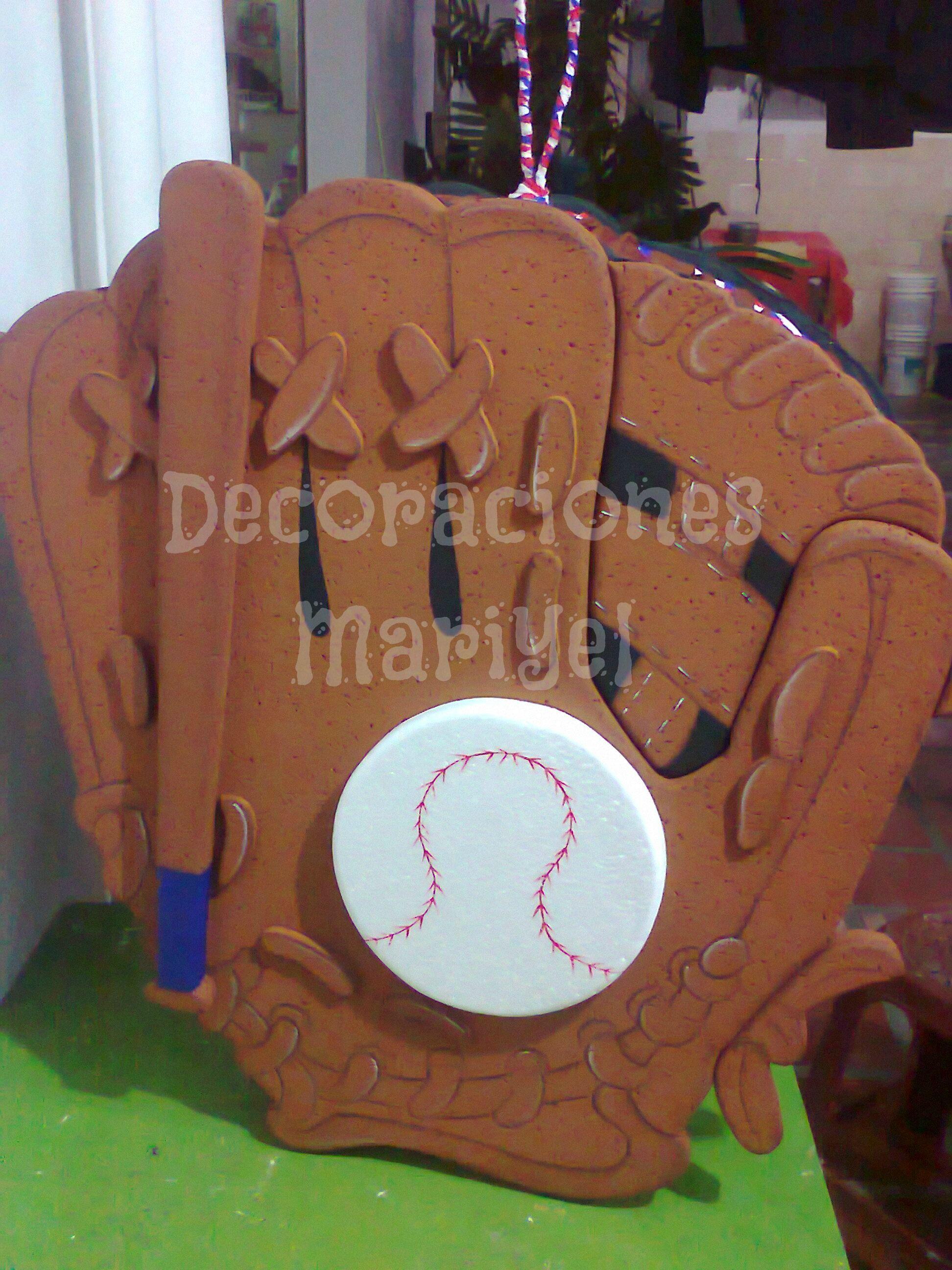 Piñata guante de Beisbol | Béisbol party | Pinterest | Guantes de ...